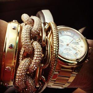 J. Crew Jewelry - j.crew classic pave link bracelet