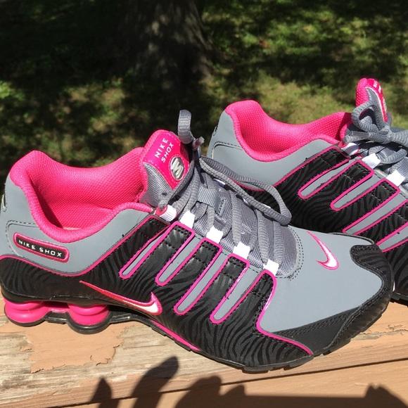 info for 87f29 84af5 Nike Shox Size 5Y Black & Hot pink & Grey Zebra