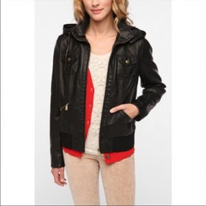 Urban Outfitter BDG black leather bomber jacket