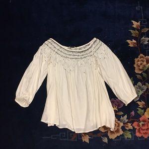 Zara White and Black blouse