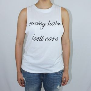 Tops - Messy hair don't care tank