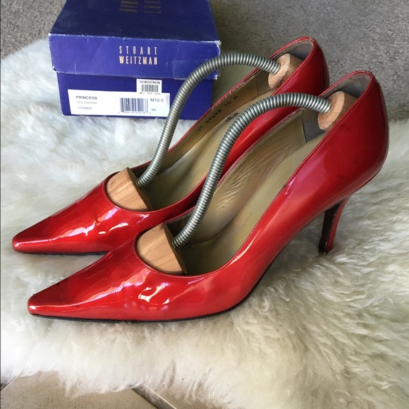 bdfa3bbb1b24 Stuart Weitzman Red Patent Leather Princess Pumps.  M 57cb329678b31c0c31000229
