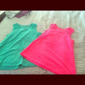 T&G Other - Bright pink TG tank tops