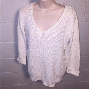 Un Deux Trois Sweaters - 1-2-3 Paris cream knit sweater