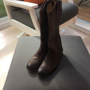Frye Melissa Button slate boot