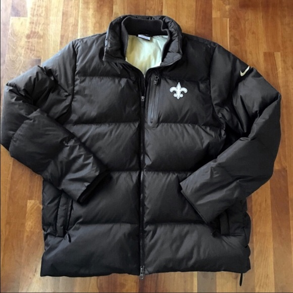 the latest dcd67 f40a2 Authentic New Orleans Saints Nike down puffer coat