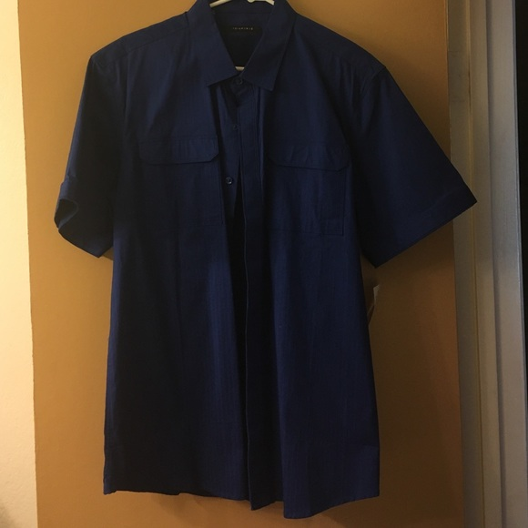 62 off 7 diamonds other sale royal blue soft sleeve for Royals button up shirt