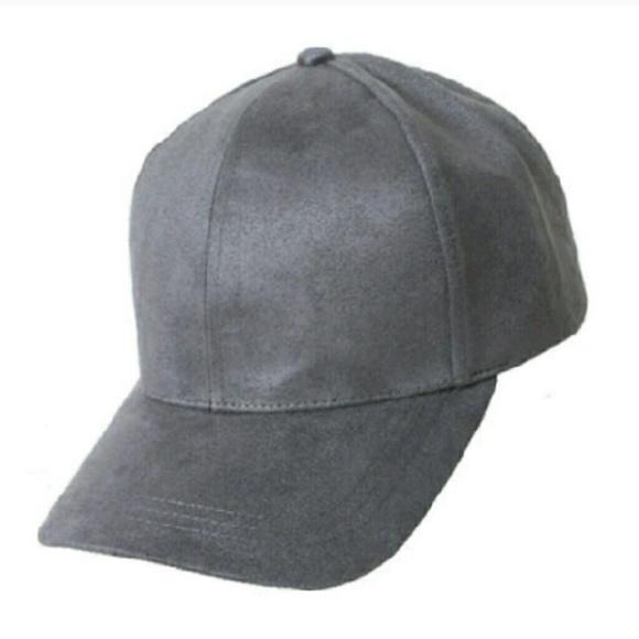 Accessories - Gray Suede Baseball Cap 7044e9faeb3c