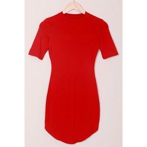 Dresses & Skirts - Red Short Sleeve Bodycon Dress