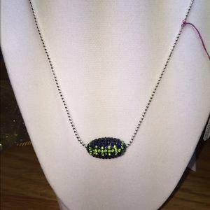 Jewelry - New Swarovski Crystal Seahawks necklace ss