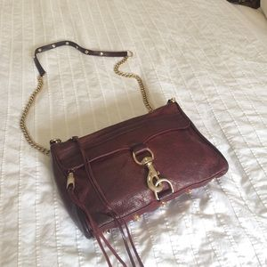 Rebecca Mincoff MAC cross body in eggplant