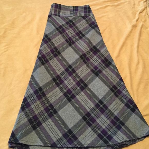 Dress Barn - Dress Barn purple, black and grey plaid skirt from ...