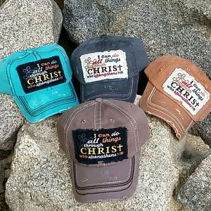 Boutique  Accessories - I can do all things through CHRIST Cap