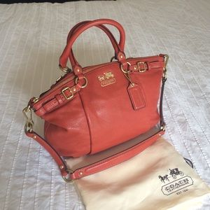 Coach Bags - Coach Madison satchel in orange