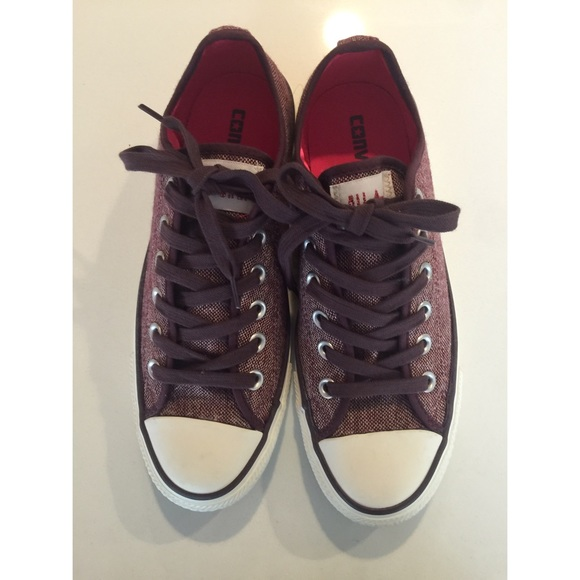 0549fd0c97dc Converse Shoes - Converse All Star in Burgundy Tweed Sz 7 Like New