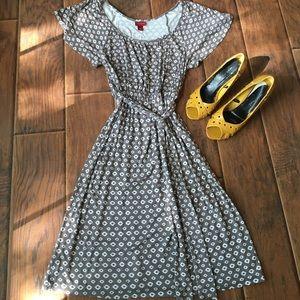 Gray and White Merona Dress