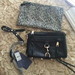 Black Rebecca minkoff Mac cross body bag