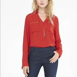 Express Tops - NWOT Express portifino zip shirt