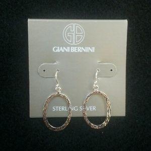 NEW Sterling Silver Gianni Bernini hoops