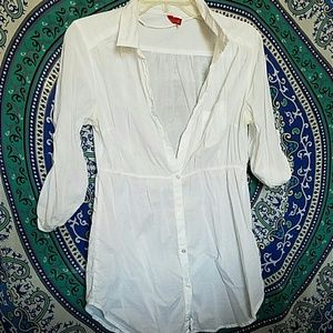 H&M white button down
