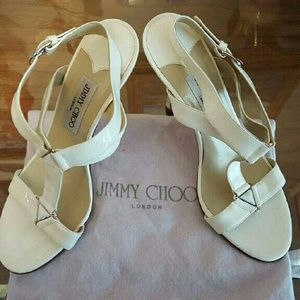 Jimmy Choo: Genuine White Leather Formal Shoes