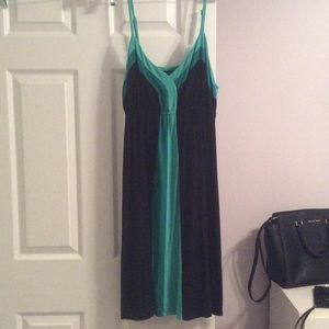 Black and green/seafoam dress