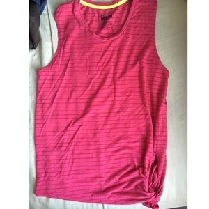Nike muscle tee with a side tie!