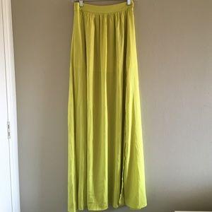 Blaque Label Yellow Maxi Skirt.
