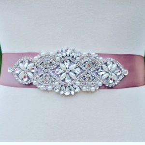 Accessories - Bridal dash belt rhinestones and beads
