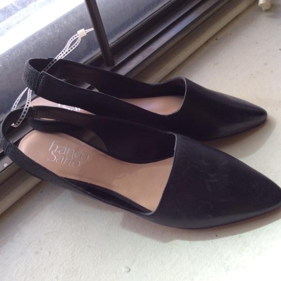 0f9066ae753 Franco Sarto Pointed Toe Flats Black Leather