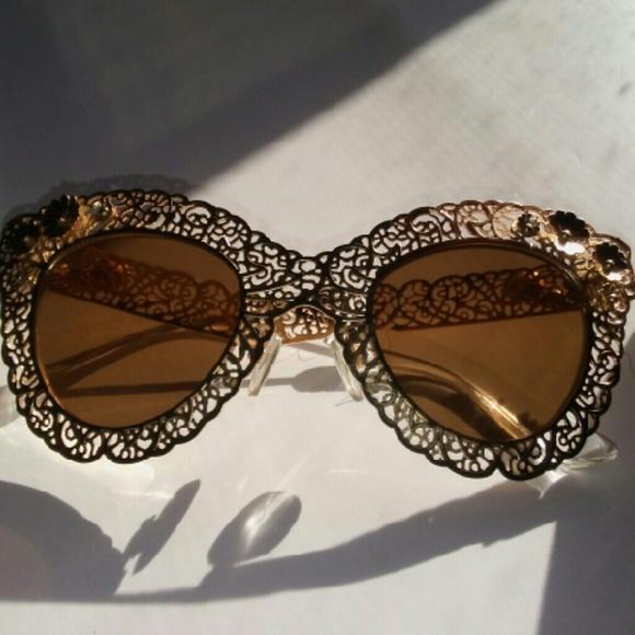 ea418f6570b5 Dolce   Gabbana Accessories - Dolce Gabbana Gold Filigree DG2134 Sunglasses