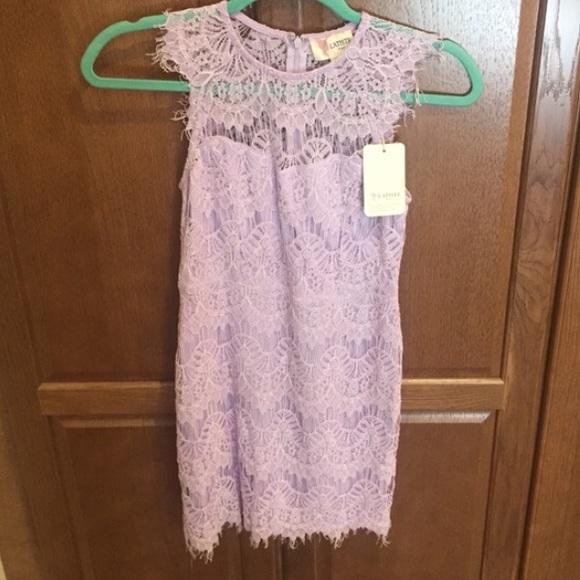 Lilac Purple Lace Dress Nwt