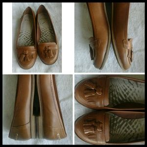 Leather Flats by Clarks