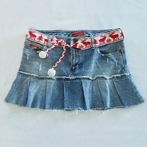 abercrombie kids Other - ABERCROMBIE KIDS Distressed Denim Skirt with Belt