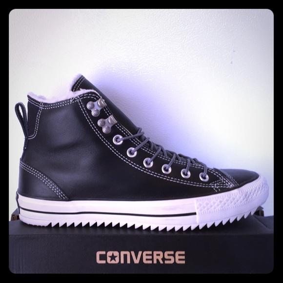 a54c5fa872de BRAND NEW 100%REAL LEATHER Converse Winter Mids!!!