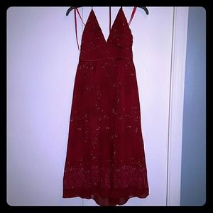 Worn once! Red Max and Cleo halter dress sz 2