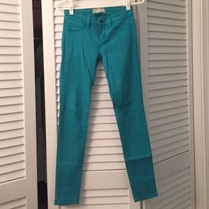 Free People turquoise jeans size 25