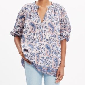 Madewell Tops - Madewell tassel top in flora paisley