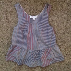 Anthropologie Striped Tank with Peplum