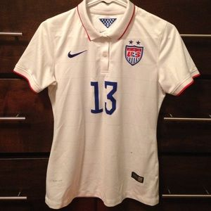 Official USA women's 2014 home World Cup jersey