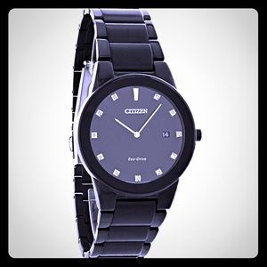 Citizen Other - NEW Citizen Eco-Drive Polished Black on Black