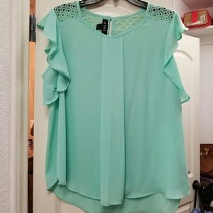 a. byer Tops - Light blue/mint shirt