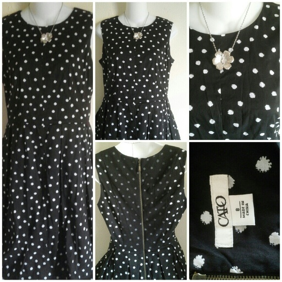 5a5f13454d1 Cato Dresses   Skirts - Cato black and white dress size 8