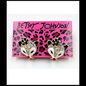 Betsey Johnson Jewelry - %Sale% Betsey Johnson FOX Clip-on earrings