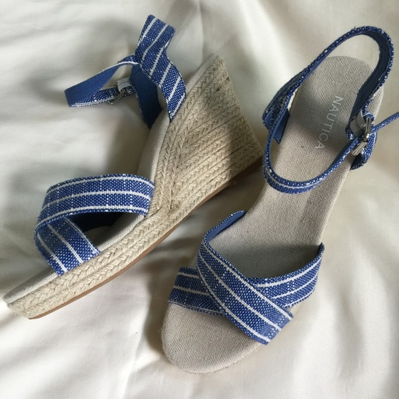 ShoesNew Sandals Blue Size9 Wedge Womens Nautica Poshmark F1KlJcT