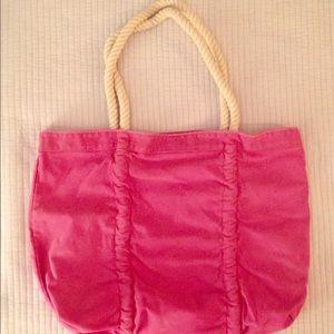 Cotton beach bag tote