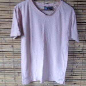 Raw Silk T Shirt Sz M
