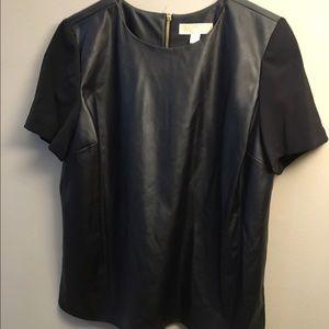 Michael Kors Faux leather top