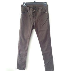 NWOT Zara olive Brown Skinny Jeans 36