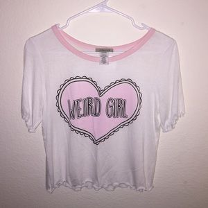 Ambiance Apparel Tops - Weird Girl Top